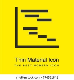 Chart Gantt bright yellow material minimal icon or logo design