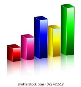 Chart Graph 3D Vector Business Background