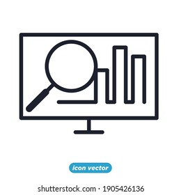 Chart and graph icon. Infographic icons. Financial Analytics symbol vector illustration.