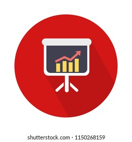 chart growing presentation icon - rising graph for business income and profit growth monthly vector eps 10