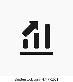 Chart icon bar symbol for web site design