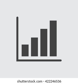 Chart icon vector.