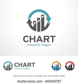 Chart Logo Template Design Vector, Emblem, Design Concept, Creative Symbol, Icon