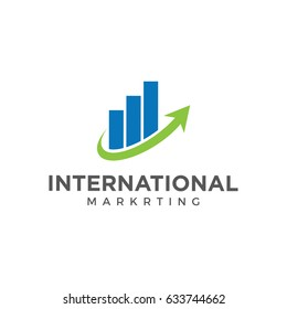 chart marketing  arrow logo icon vector template
