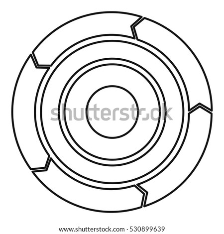 Chart Pie Arrows Icon Outline Illustration Stock Vector Royalty