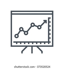 Chart, presentation icon suitable for info graphics, websites and print media and  interfaces. Line vector icon.