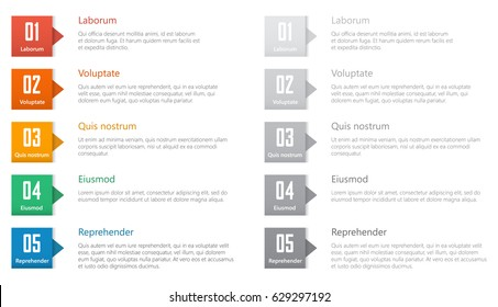 chart table design, ranked numbered list vector template