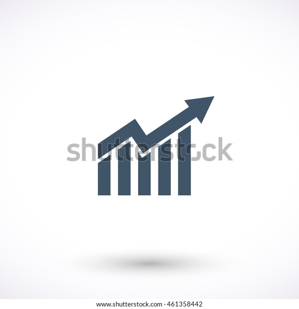 Chart vector icon. Graphic symbol for web design, logo. Isolated sign on a white background.