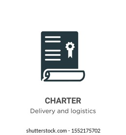Charter vector icon on white background. Flat vector charter icon symbol sign from modern delivery and logistics collection for mobile concept and web apps design.