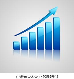 Graphiques Statistiques commerciales. Illustration vectorielle