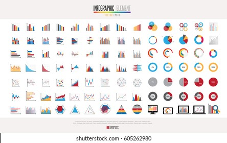 Charts diagrams and business graphs icons set. Illustration eps 10