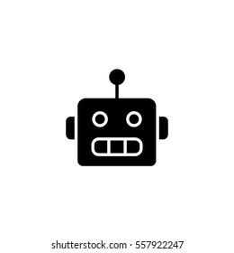 Chat bot black icon