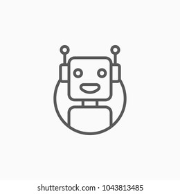 chat bot icon, robot vector