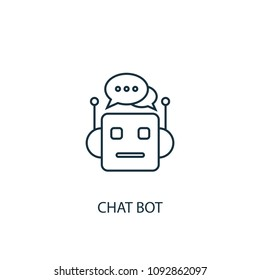 Chat Bot icon. Simple element illustration. Chat Bot symbol design from Artificial Intelligence collection. Can be used in web and mobile.