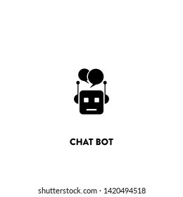 chat bot icon vector. chat bot sign on white background. chat bot icon for web and app