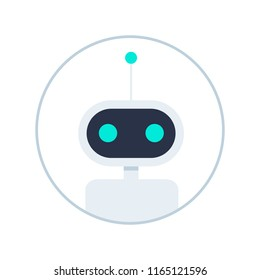 Chat bot isolated on white. Customer support service chat bot. Flat vector illustration