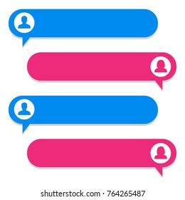 Chat bubble, chat dialog on white background. Vector illustration.