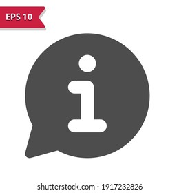 Chat Bubble with Info Icon. Professional, pixel perfect icon, EPS 10 format.