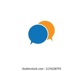 Chat bubble logo icon