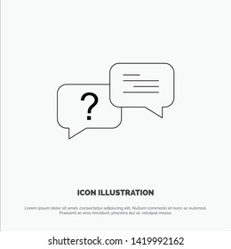Chat, Bubble, Popup, Message Line Icon Vector