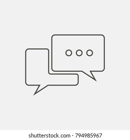 Chat, Bubble, speech icon. Line vector icon.