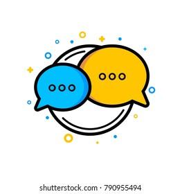 Chat bubbles conversation icon