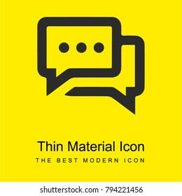 Chat bubbles with ellipsis bright yellow material minimal icon or logo design