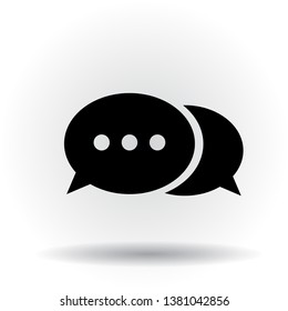 Chat bubbles with ellipsis vector icon