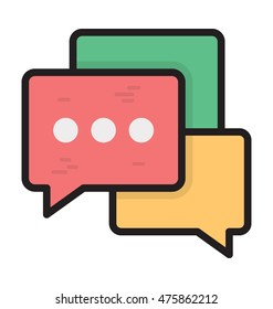Chat Bubbles Vector Icon