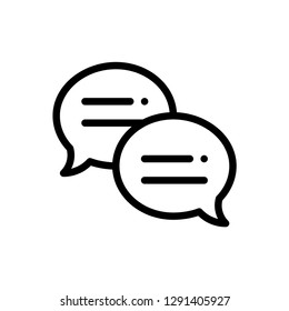 Chat buble concept line icon. Simple element illustration. Message chat buble outline symbol design. Can be used for web and mobile UI/UX . Modern vector style.