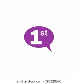 Chat Bulb Communication with Number Logo Vector