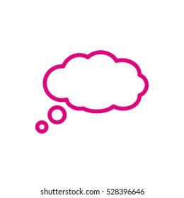 chat, cloud, communication, conversation, vector icon, eps10