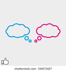chat, cloud, dialog, icon, vector illustration EPS 10
