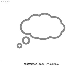 chat cloud icon, vector illustration eps10