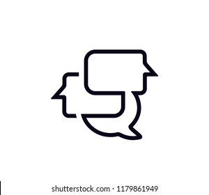 Chat and Communication line icon