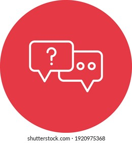 Chat, dialogue, support icon vector image. Can also be used for customer support. Suitable for use on web apps, mobile apps and print media.