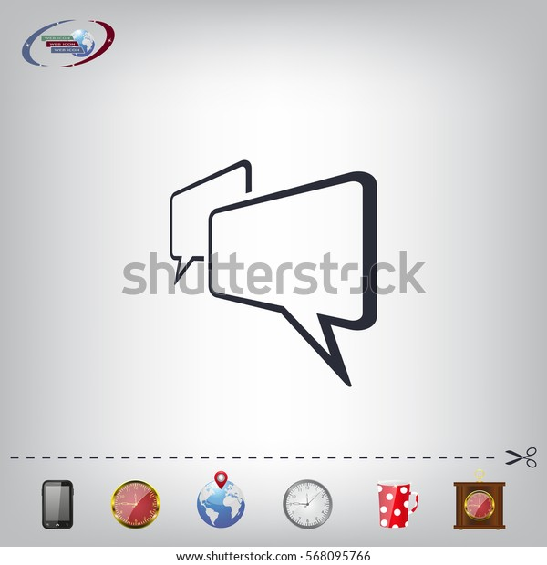 Chat Flat Icon with shadow. Vector EPS 10.