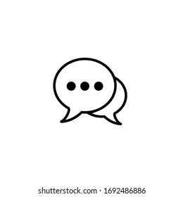chat icon, bubble icon, chat sign and symbol vector