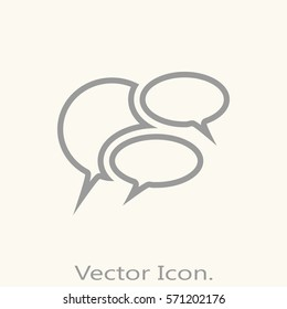 Chat icon isolated sign symbol and flat style for app, web and digital design. Vector illustration.