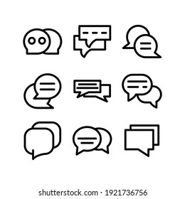 chat icon or logo isolated sign symbol vector illustration - Collection of high quality black style vector icons