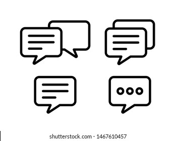 Chat icon set. Message symbol. Flat vector style