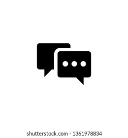 Chat  icon, Chat sign vector