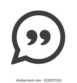 Chat icon. Simple speech bubble vector isolate on white background.