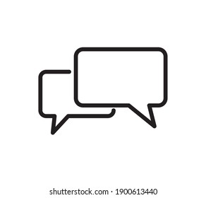 Chat icon. Speech Bubble icon isolated on white background. Flat design. Vector illustration.