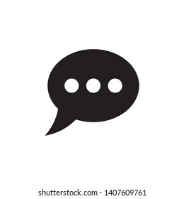 Chat icon symbol vector. on white background