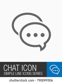 Chat icon, talk or message symbol