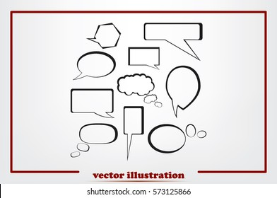 Chat icon vector illustration.