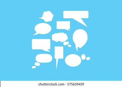 Chat icon vector illustration.
