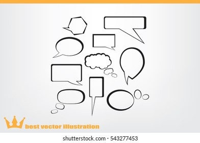 Chat icon vector illustration eps10.