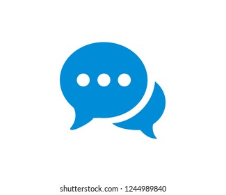 Chat icon vector. symbol for web site Computer and mobile vector.